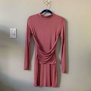 NWT pink missguided long sleeve Bodycon dress